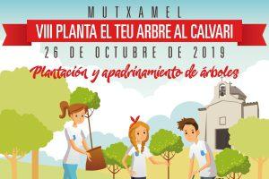VII planta un arbre al Calvari
