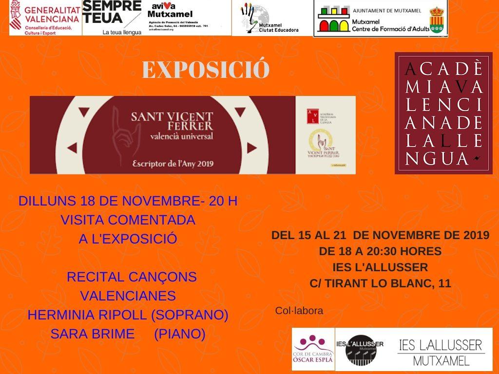 exposición itinerante de la Acadèmia Valenciana de la Llengua Sant Vicent Ferrer