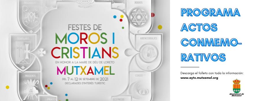 Programación actos moros y cristianos 2021