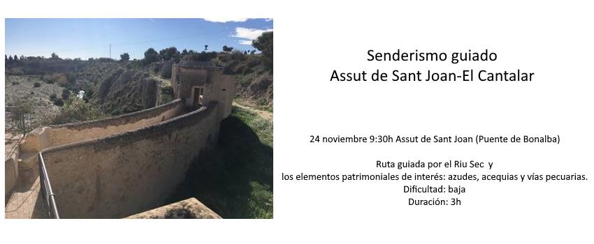 Senderismo guiado Assut de Sant Joan-El Cantalar