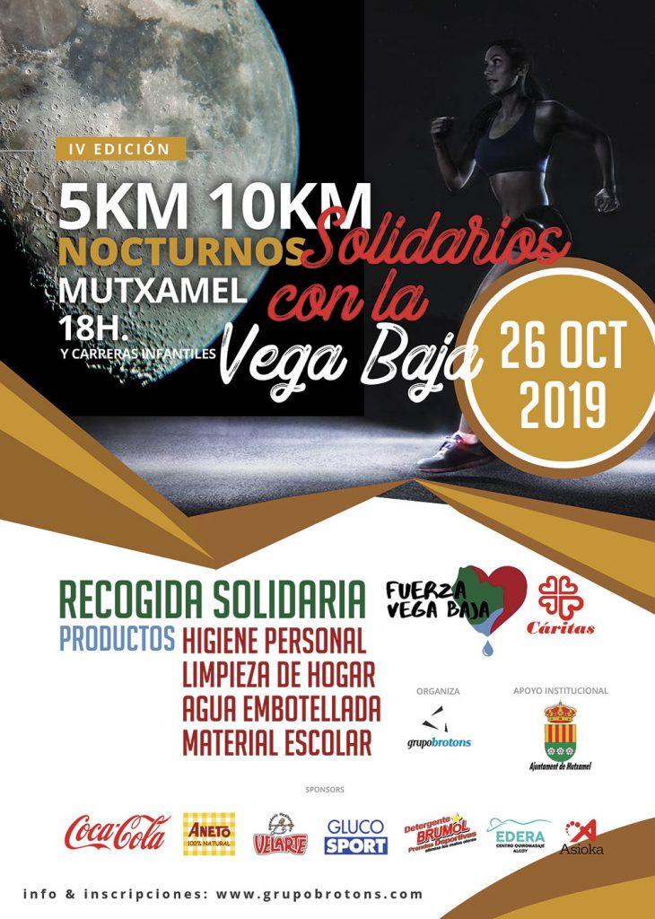 IV EDICIÓ  - 5KM  10 KM  NOCTURNS SOLIDARIS MUTXAMEL AMB  LA VEGA BAIXA